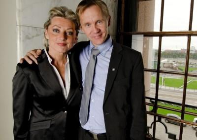 Edustaja- ja valiokuntatoveri Kike Elomaan kanssa